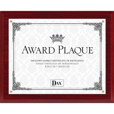 DAX Mahogany Award Plaque