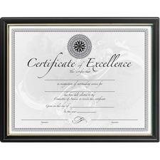 DAX N1188N5 Burns Grp. Black & Gold Certificate Frames DAXN1188N5
