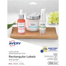 AVE 22828 Avery Durable TrueBlock Rectangle Labels AVE22828