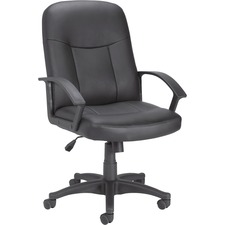 LLR 84869 Lorell 84869 Leather Managerial Mid-back Chair LLR84869