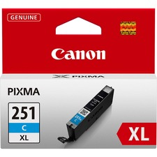 Canon CLI251XLC Original Ink Cartridge - Inkjet - Cyan - 1 Each