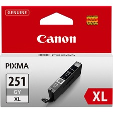 Canon CLI251XLGY Original Ink Cartridge - Inkjet - Gray - 1 Each