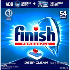 Finish All-in-1 Dishwasher Tabs - Tablet - 1.22 kg - Fresh Scent - 54 / Pack - White, Blue, Red