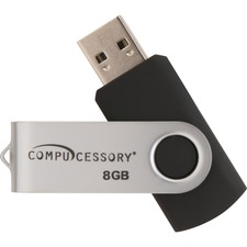 Compucessory Password Protected USB Flash Drives - 8 GB - USB 2.0 - 12 MB/s Read Speed - 5 MB/s Write Speed - Aluminum - 1 Year Warranty