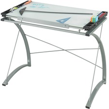 SAF 3966TG Safco Xpressions Glass Top Drafting Table SAF3966TG