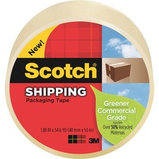 MMM 3750G 3M Greener Commercial Grade Packaging Tape MMM3750G
