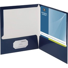 BSN44430 - Business Source Laminated Cover 2-pocket Portfolio