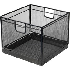 LLR84145 - Lorell Black Mesh/Wire Letter Filing Tub