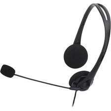 CCS 15154 Compucessory Lightweight Stereo Headphones w/Mic CCS15154