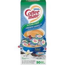 NES 91757 Nestle Coffee-mate SF Fr. Vanilla Creamer Singles NES91757