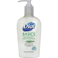 Dial Basics HypoAllergenic Liquid Hand Soap - Fresh Floral Scent - 7.5 fl oz (221.8 mL) - Pump Bottle Dispenser - Skin, Hand - White - 1 Each