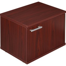LLR81923 - Lorell Concordia Series Mahogany Laminate Desk Ensemble
