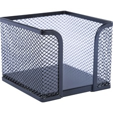 Lorell Black Mesh/Wire Memo Holder - Steel - 1 / Each - Black