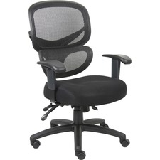 LLR60622 - Lorell Mesh-Back Fabric Executive Chairs