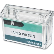 "Deflecto Outdoor Business Card Holder - 2.75"" (69.85 mm) x 4.25"" (107.95 mm) x 1.50"" (38.10 mm) x - 1 Each - Clear"