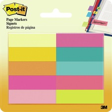 "MMM 67010AB 3M Post-it 1/2""x2"" Removable Page Markers MMM67010AB"
