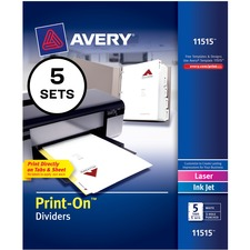 AVE11515 - Avery® Customizable Print-On Dividers