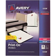 AVE11528 - Avery&reg Customizable Print-On Dividers
