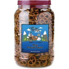OFX 00082 Office Snax Old Fashioned Mini Twist Pretzels OFX00082