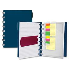 """Ampad Versa Crossover Notebook - Wire Bound - 24 lb Basis Weight - 6"""" x 9"""" - 8.75"""" (222.25 mm) x 6.30"""" (160.02 mm) - Navy Cover - Micro Perforated, Divider, Repositionable - 1Each"""