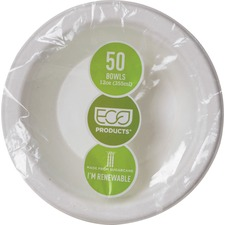 ECO EPBL12PK Eco-Products 12-oz. Sugarcane Bowls ECOEPBL12PK