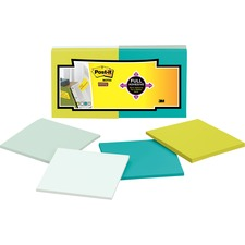 Post-it Super Sticky Full Adhesive Notes, 3 in x 3 in, Bora Bora Color Collection