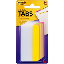 "MMM 686PLOY3IN 3M Post-it 3"" Filing Tabs MMM686PLOY3IN"