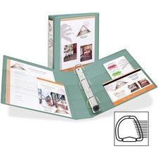 """Avery® 1-Touch Heavy-duty EZD Lock Ring View Binder - 1 1/2"""" Binder Capacity - Letter - 8 1/2"""" x 11"""" Sheet Size - Ring Fastener(s) - 4 Pocket(s) - Poly, Chipboard - Sea Foam Green - Locking Ring, Gap-free Ring, Archival-safe, Non-stick, PVC-free, Heavy Duty - 1 Each"""