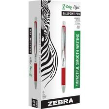 Zebra Pen Z-Grip Flight Retractable Pens - Bold Pen Point - 1.2 mm Pen Point Size - Retractable - Red