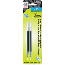 Zebra Pen Emulsion EQ Pen Refills - 1 mm, Bold Point - Blue Ink - Smear Proof, Quick-drying Ink - 2 / Pack