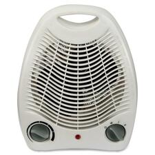 Royal Sovereign Compact Fan Heater - HFN-03 - Ceramic - Electric - 750 W to 1.50 kW - 2 x Heat Settings - Portable - White