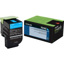 Lexmark Unison 701XC Toner Cartridge - Laser - Extra High Yield - 4000 Pages Cyan - Cyan - 1 Each