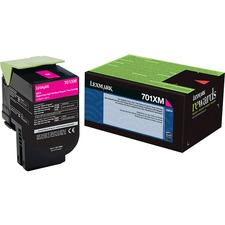 Lexmark Unison 701XM Toner Cartridge - Laser - Extra High Yield - 4000 Pages - Magenta - 1 Each