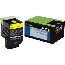 Lexmark Unison 701XY Toner Cartridge - Laser - Extra High Yield - 4000 Pages - Yellow - 1 Each