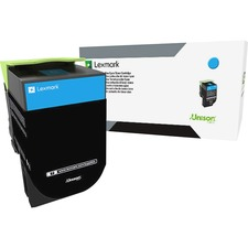 Lexmark Unison 800S2 Toner Cartridge - Cyan - Laser - Standard Yield - 2000 Pages - 1 Each