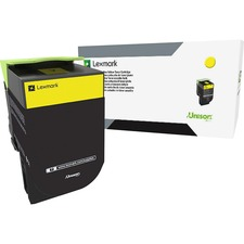 Lexmark Unison 800S4 Toner Cartridge - Yellow - Laser - Standard Yield - 2000 Pages Yellow - 1 Each