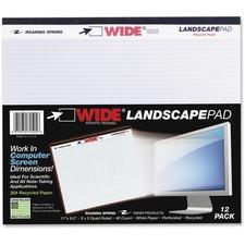 ROA 74505 Roaring Spring Wide Landscape Graph Paper Pad ROA74505