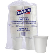 GJO 19047PK Genuine Joe Single Wall Lined Disposable Cups GJO19047PK