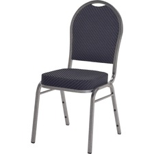 LLR 62518 Lorell Upholstered Cushion Stacking Chairs LLR62518