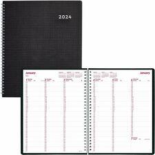 RED CB950VBLK Rediform DuraFlex Nonrefillable Weekly Planner REDCB950VBLK