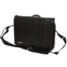 "Mobile Edge Slimline Carrying Case (Messenger) for 14.1"" Ultrabook, iPad, Tablet PC - Black, White"