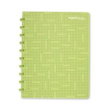 "Myndology Disc Bound Binding Notebook - 72 Sheet - 70.00 lb - College Ruled - Letter 8.50"" x 11\"" - 70 / Pack - White Media Lime, Juniper, Cranberry, Tangerine, Orchid Cover"