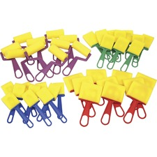 CKC 5212 Chenille Kraft Foam Brushes/Rollers Classroom Pack CKC5212