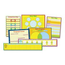 CDP 3265 Carson K-5 Graphic Organizer Bulletin Board Set CDP3265