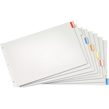 CRD 84816 Cardinal Multicolor Insertable Index Dividers CRD84816