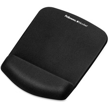 """Fellowes PlushTouch Mouse Pad/Wrist Rest with FoamFusion Technology - Black - 1"""" (25.40 mm) x 7.25"""" (184.15 mm) x 9.38"""" (238.25 mm) Dimension - Black - Polyurethane"""