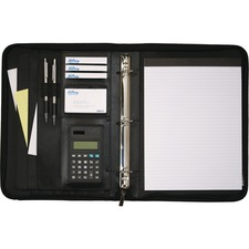 "Hilroy Executive 1"" Double Booster Round Ring Binder - 1"" Binder Capacity - 3 x Ring Fastener(s) - 2 Pocket(s) - 1 Each"