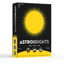 "Astrobrights Inkjet, Laser Colored Paper - Solar Yellow - Letter - 8 1/2"" x 11"" - 24 lb Basis Weight - Smooth - 500 / Pack"