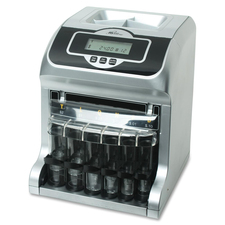 Royal Sovereign Two-Row Digital Coin Sorter - Counts 180 coins/min - Silver