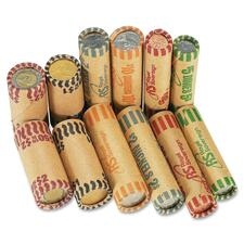 Royal Sovereign Preformed Color Coded Canadian Coin Wrapper - C$1, C$2, 1¢, 5¢, 10¢, 25¢ Denomination - Crimped, Pre-formed - Assorted